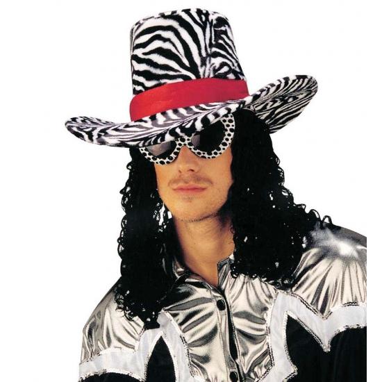 Funky Cowboy Hoed Met Zebra Print Zwembaden shop kopen