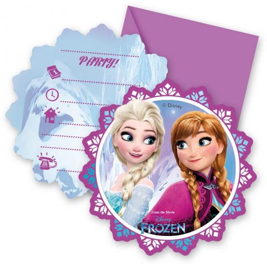 12x Disney Frozen uitnodigingen