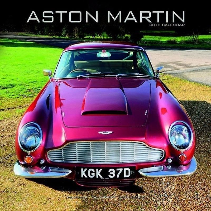 2018 kalender met Aston Martin auto's
