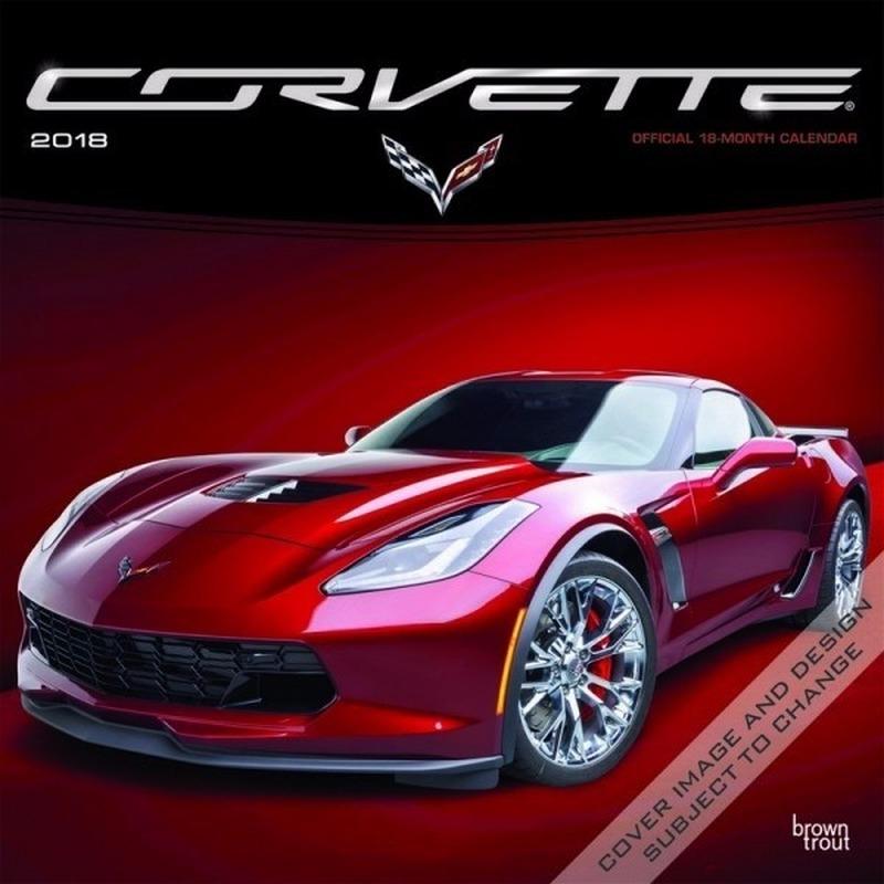 2018 kalender met Corvette auto