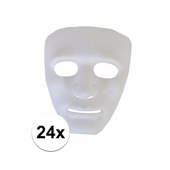 24 witte geesten maskers