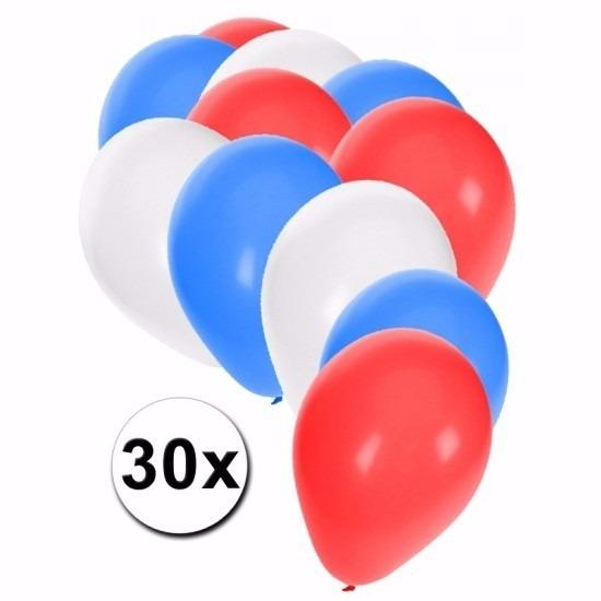30 stuks party ballonnen in de kleuren van Verenigd Koningrijk