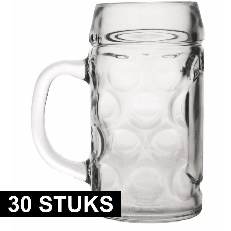 30x Duitse bierpullen 1 liter