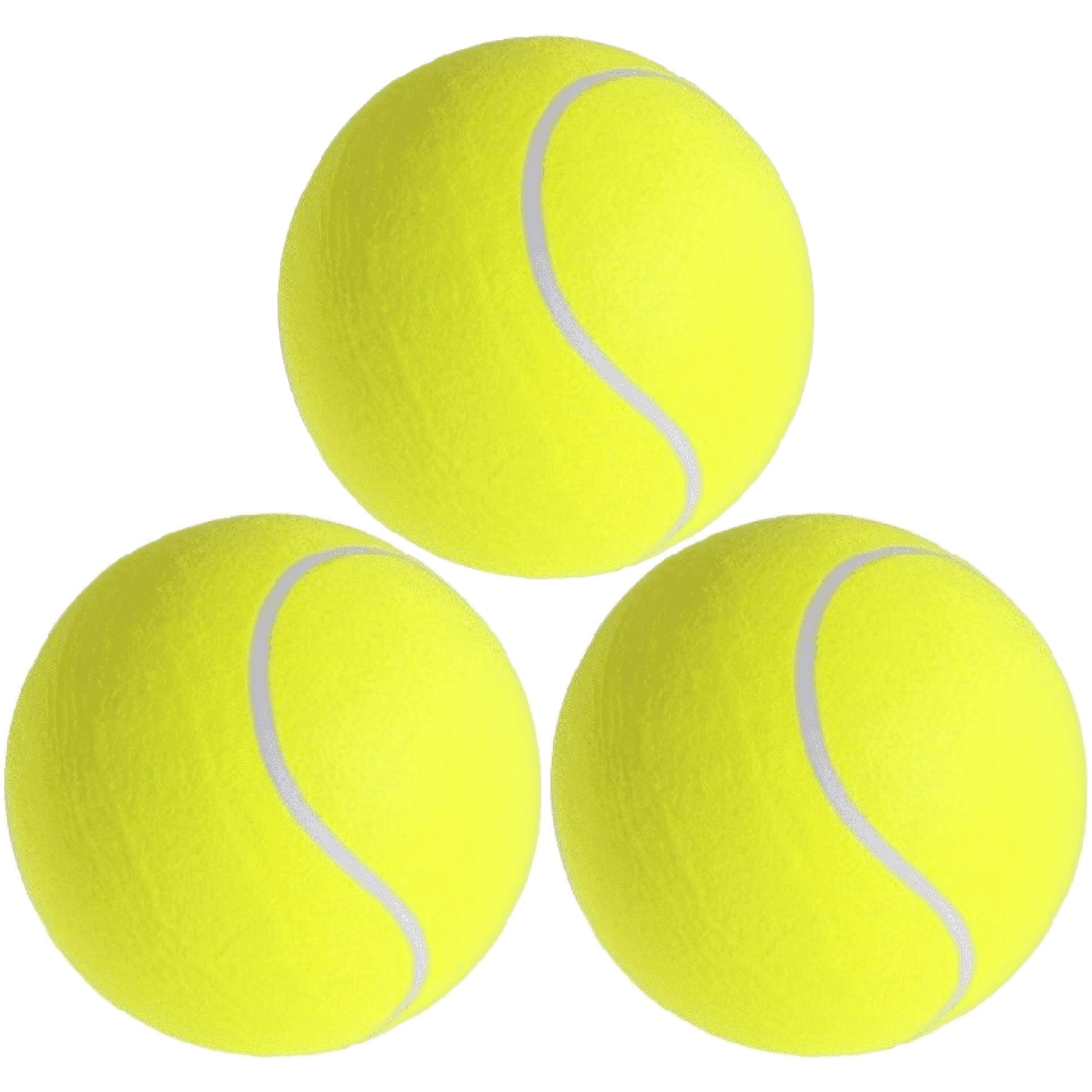 3x Mega tennisballen XXL geel 22 cm speelgoed-sportartikelen