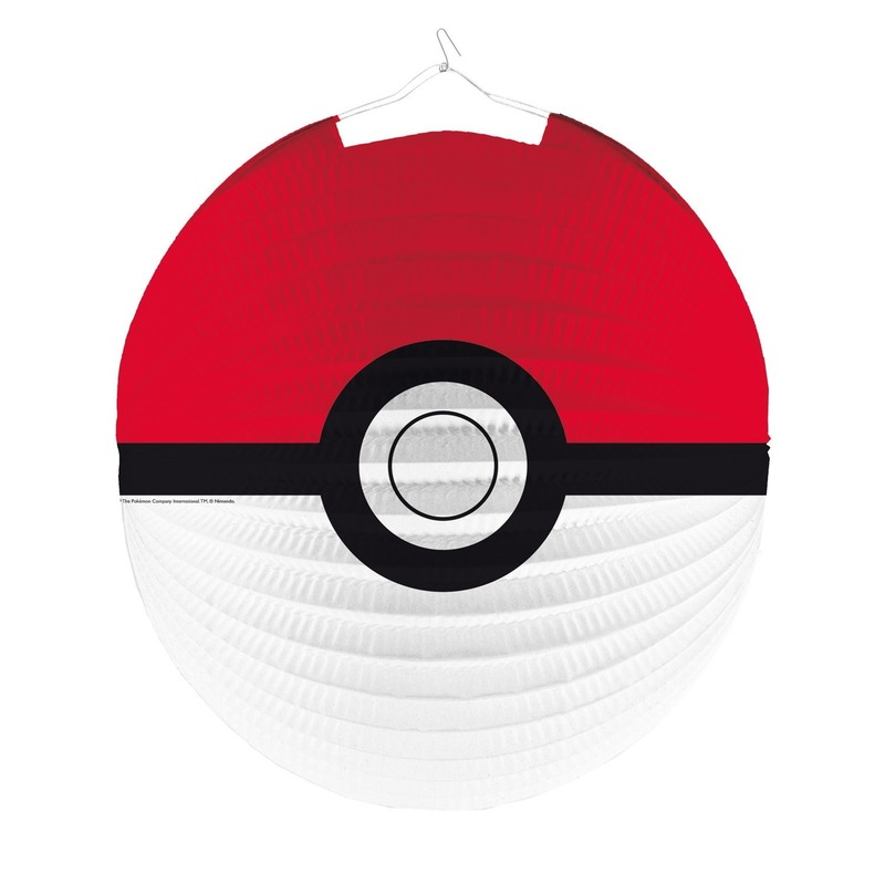 3x Pokemon thema lampionnen Poke Ball 25 cm