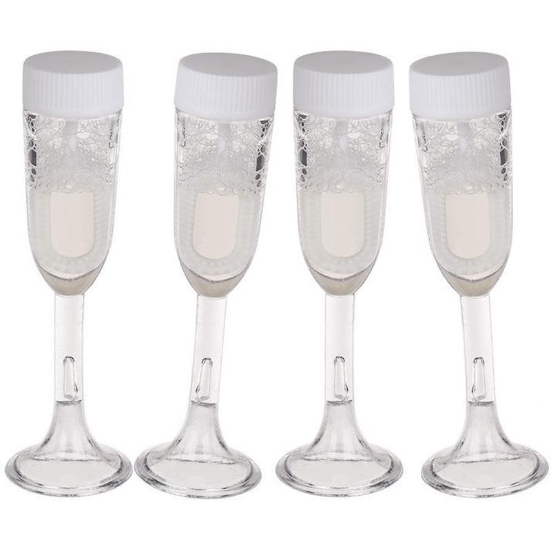 4x Bellenblaas champagne glas