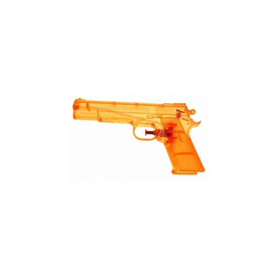 5x Oranje kleine waterpistooltjes 20 cm