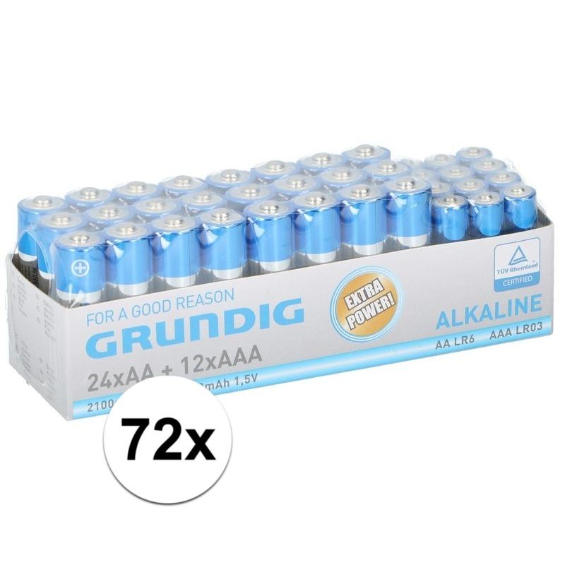 72x Grundig AA en AAA batterijen alkaline