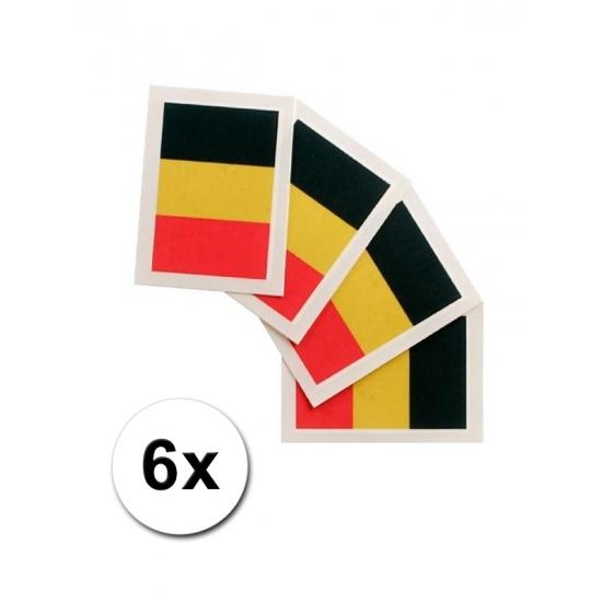 Belgie vlag tattoeages 6 st