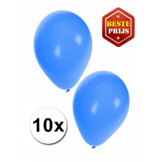 Blauwe decoratie ballonnen 10 stuks