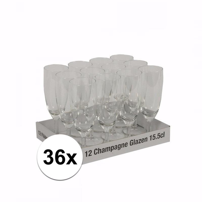 Bruiloft champagne flutes 36 st