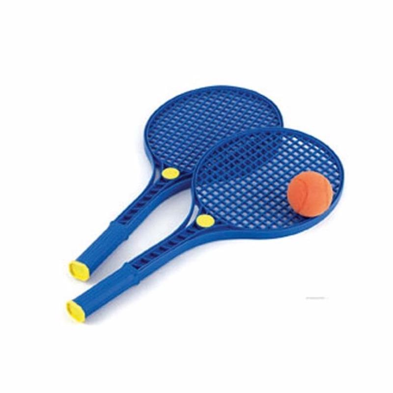 Camping tennis set met zachte bal