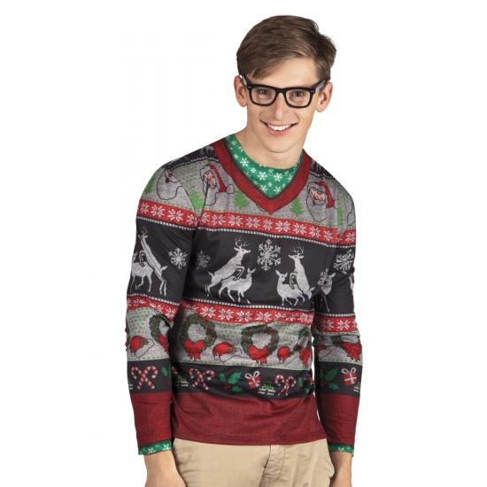 Carnavalskostuum kerst heren shirt