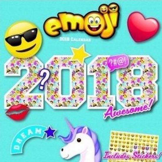 Cartoon maandkalender Emoji 2018