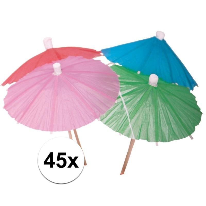 Cocktail parasols 45 stuks