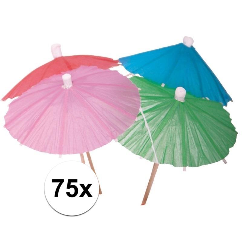 Cocktail parasols 75 stuks