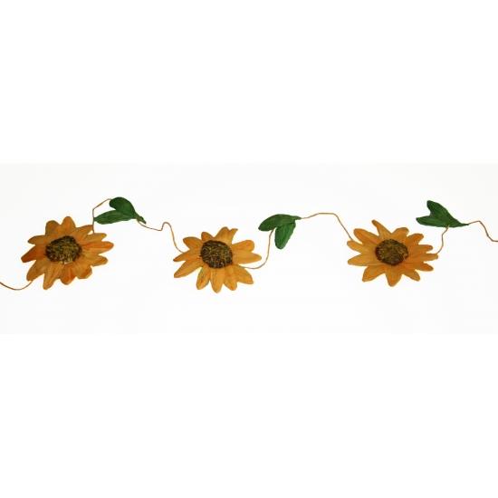 Decoratie zonnebloemen slinger oranje