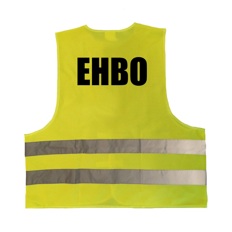 EHBO vestje-hesje geel met reflecterende strepen voor volwassenen