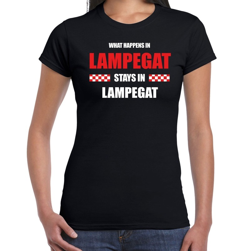 Eindhoven-Lampegat Carnaval outfit-t- shirt zwart dames
