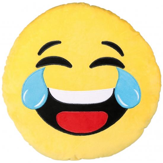 Emoticon kussen lachend 50 cm