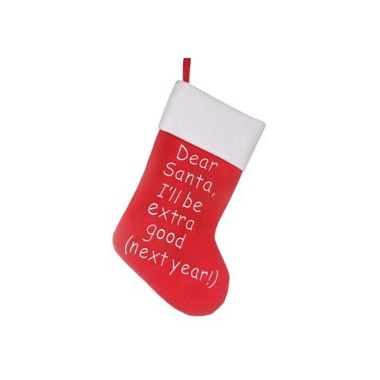 Feest kerstsok Dear Santa