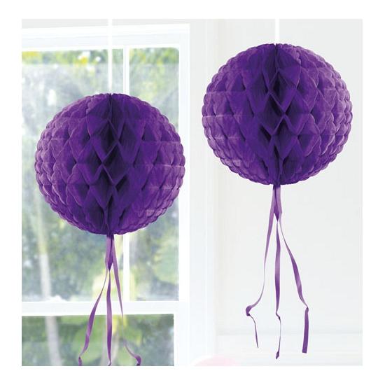 Feestversiering paarse decoratie bol 30 cm