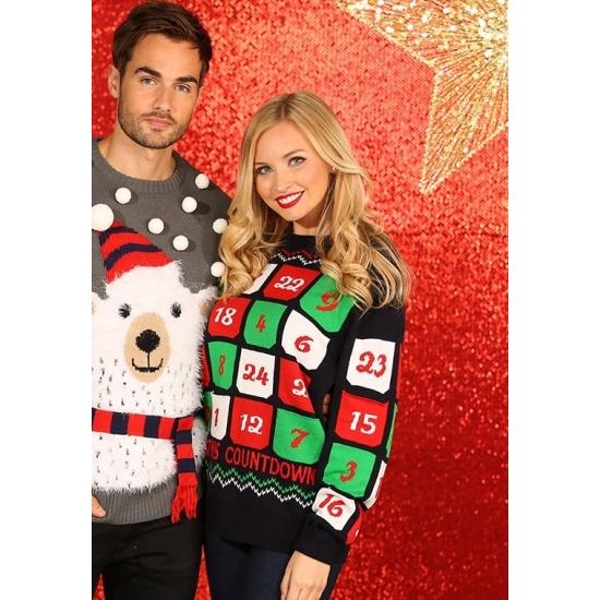 Foute kerstprint truien met adventskalender