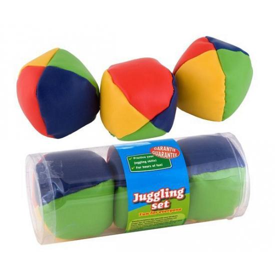 Gekleurde jongleerballen drie stuks