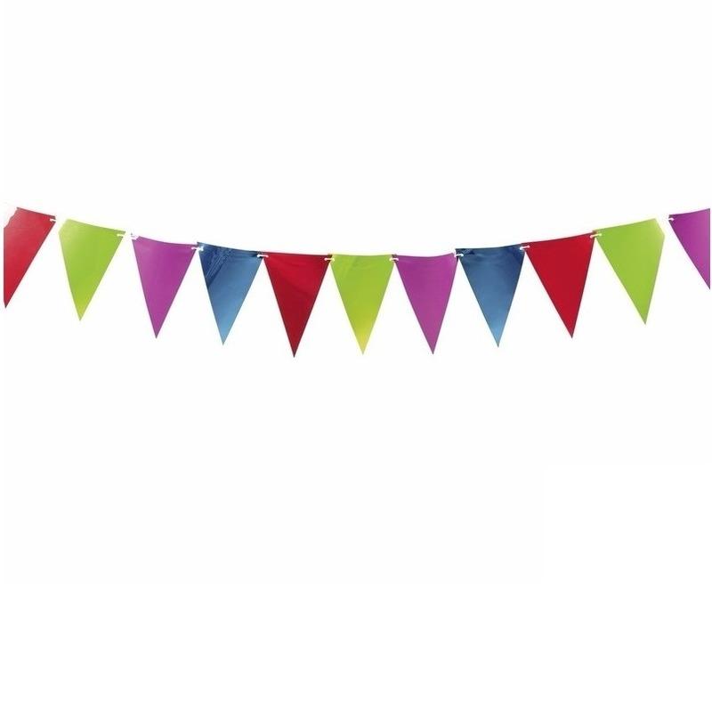 Gekleurde slingers/vlaggetjes 3.6 meter
