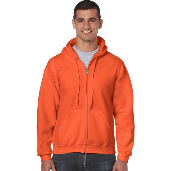 Gildan vest met capuchon oranje