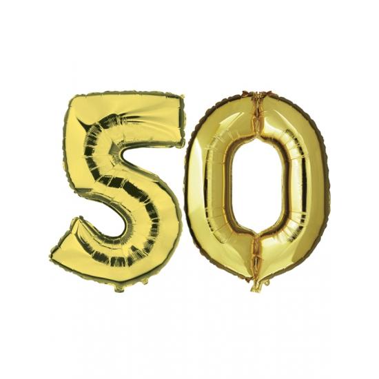 Gouden 50 jaar ballonnen feestversiering