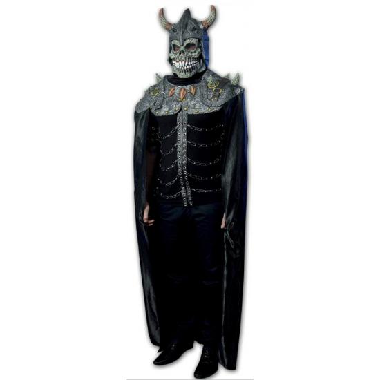 Halloween thema setje cape met masker viking