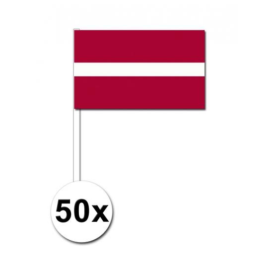 Handvlag Letland set van 50