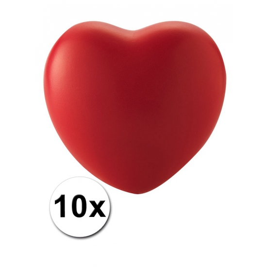 Hart stressballetjes 10 stuks