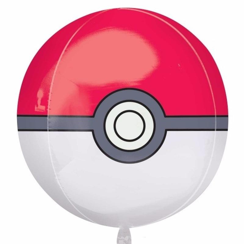 Helium ballon Pokeball 40 cm