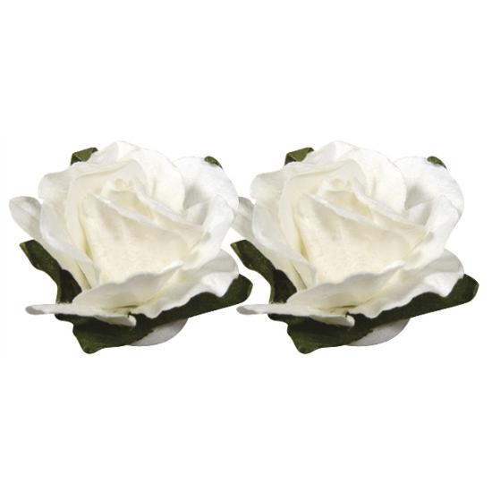 Hobby bloemetjes wit 1,5 cm