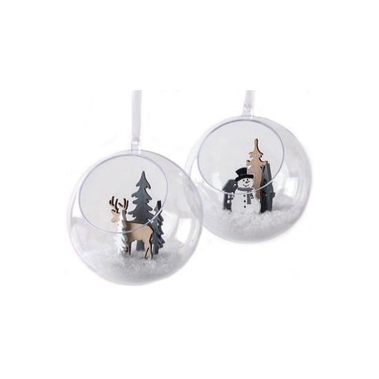 Hobby kerstballen open 10 cm maken