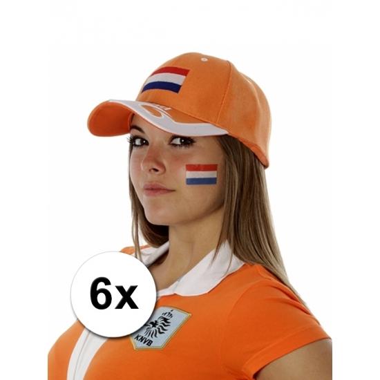 Hollandse vlag tattoeages 6 st