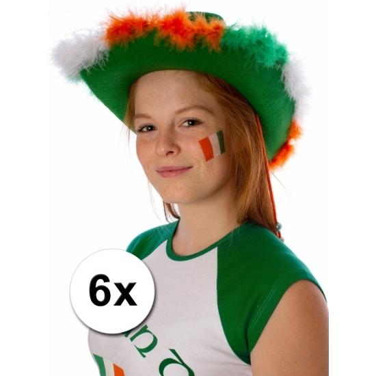 Ierland vlag tattoeages 6 st