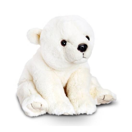Keel Toys pluche ijsbeer knuffel zittend 45 cm