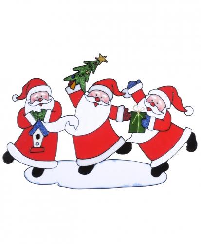 Kerst raamstickers-raamdecoratie kerstman plaatjes 40 x 27 cm