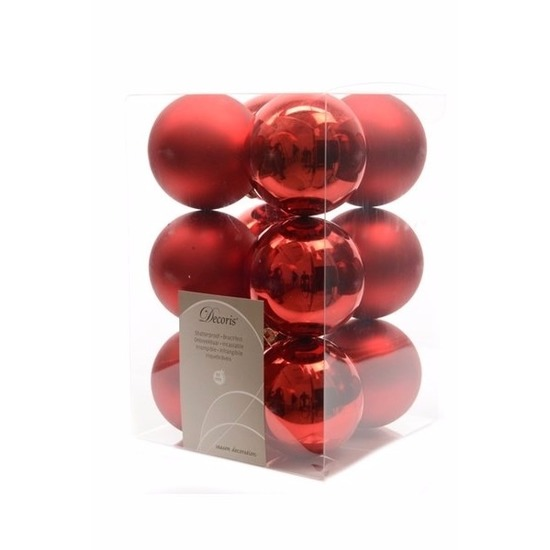 Kerstboomversiering rode ballen 6 cm