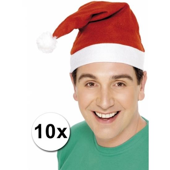 Kerstmutsen voor de laagste prijs pakket van 10