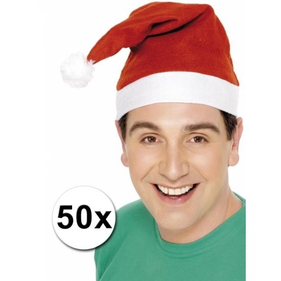 Kerstmutsen voor de laagste prijs pakket van 50