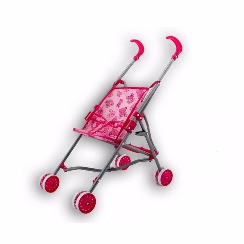 Kinder buggy voor poppen roze