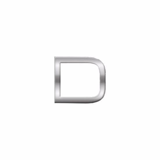Kleine alfabet stickers letter D
