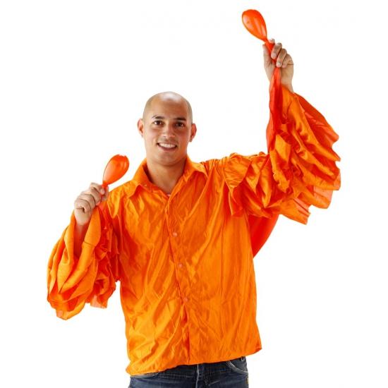 Limbo overhemd oranje met rouches heren