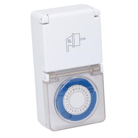 Mechanische timer-tijdklok-tijdschakelaar met afdekklepje
