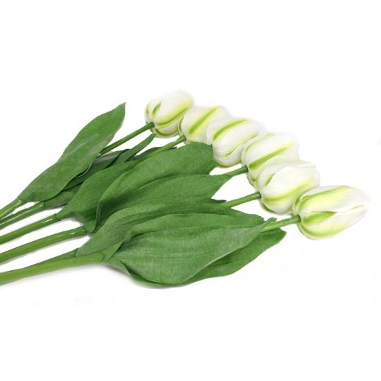 Nep tulpen set wit 6 stuks