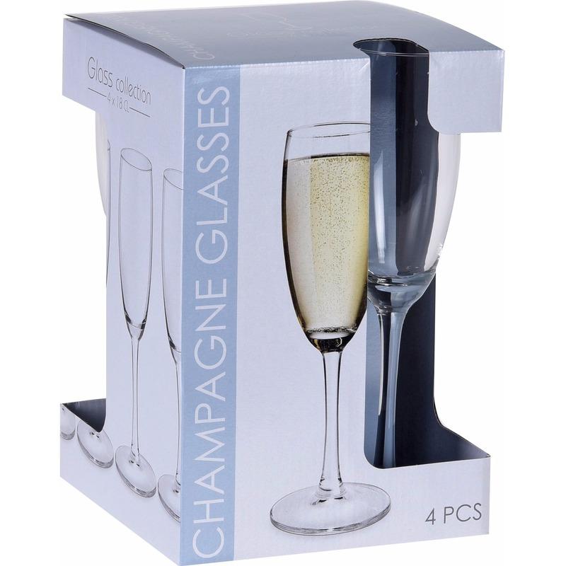 Oud en nieuw glazenset champagne 20x stuks 180 ML